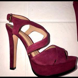 Pour La Victoire suede sexy heels